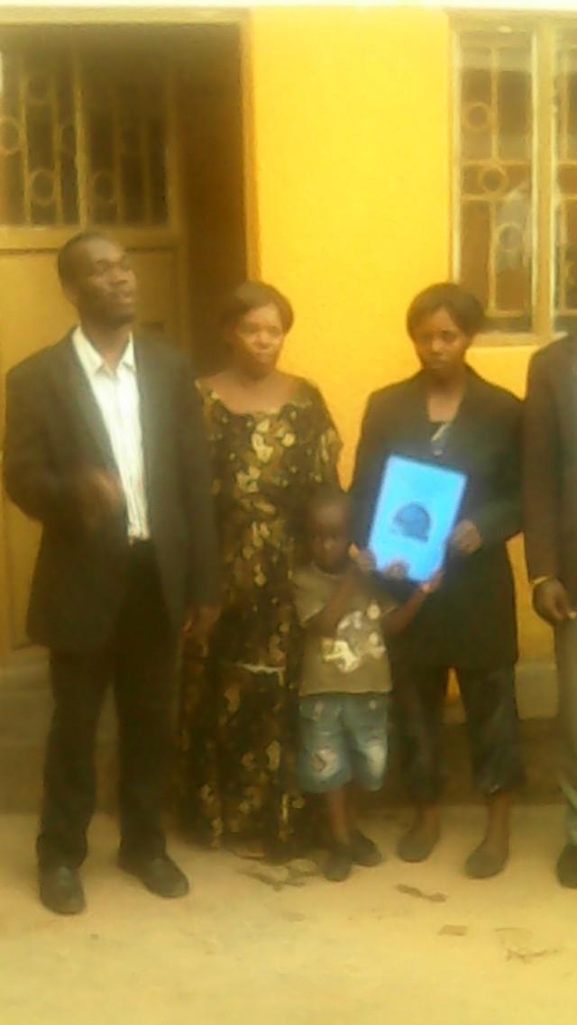 HTP Members Kivumbi Earnest Benjamin, Esther Nasuna Favor, Zipporah Nalubega & Caleb Turyamuhika in Namasuba
