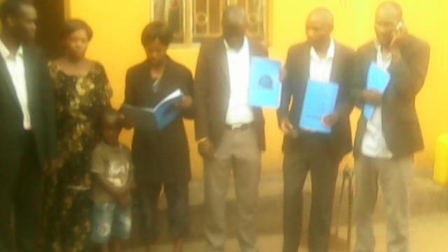 HTP Members Kivumbi Earnest Benjamin, Esther Nasuna Favor, Zipporah Nalubega,Peter Matson Mulindwa,Ongera Edigar, Caleb Turyamuhika &Allan Kitonsa in Namasuba