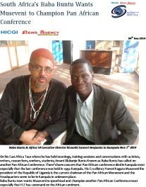 Baba Buntu Wants Museveni to Champion Pan African Conference-HICGI News Agency1