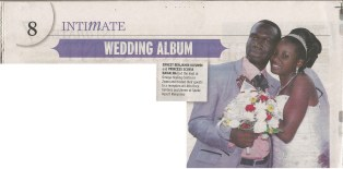 Earnest Benjamin & Princess Scovia Kivumbi Weddig in Saturday Vision
