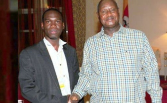 His Excellency Yoweri Kaguta Museveni & Kivumbi Earnest Benjamin in State House Entebbe