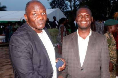 Commander UPDF Land Forces Gen Katumba Wamala with Hon Kivumbi Earnest Benjamin - Copy