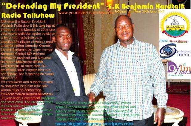 Defeninding the President Museveni-Kivumbi Hardtalk Radio Talkshow on 104.5 Joy fm