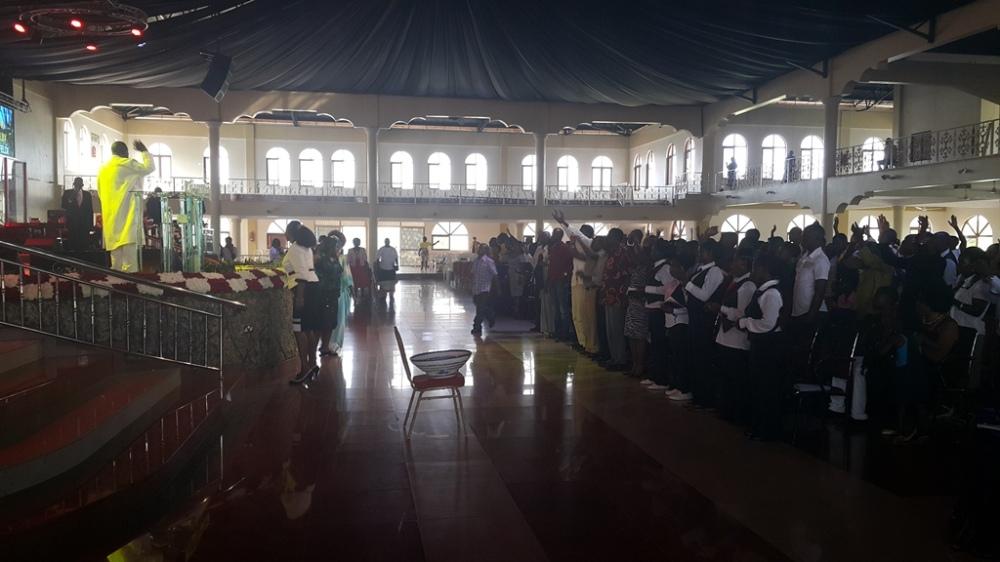Kivumbi Eanest Benjamin wih Prophet Felix Omondi at Ps Imleda Numutebi Liberty Worship Centre (38)