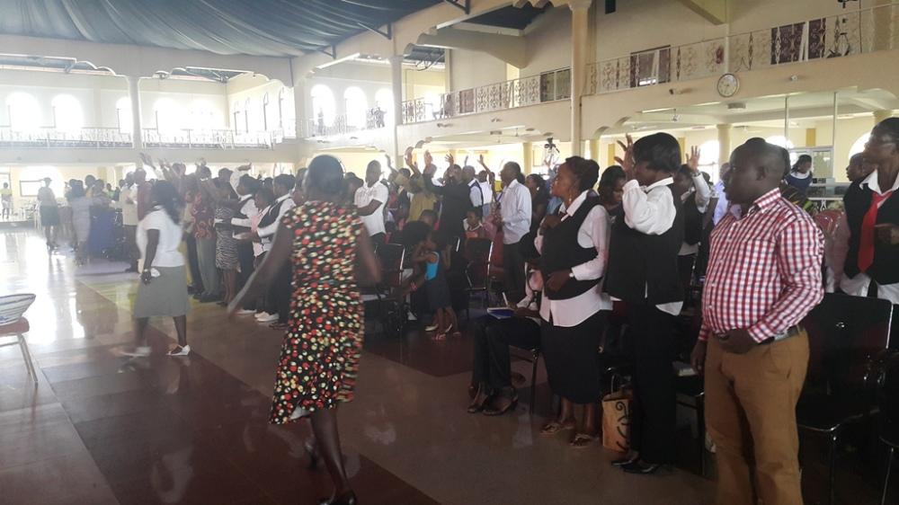 Kivumbi Eanest Benjamin wih Prophet Felix Omondi at Ps Imleda Numutebi Liberty Worship Centre (51)