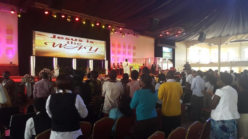 Kivumbi Eanest Benjamin wih Prophet Felix Omondi at Ps Imleda Numutebi Liberty Worship Centre (54)