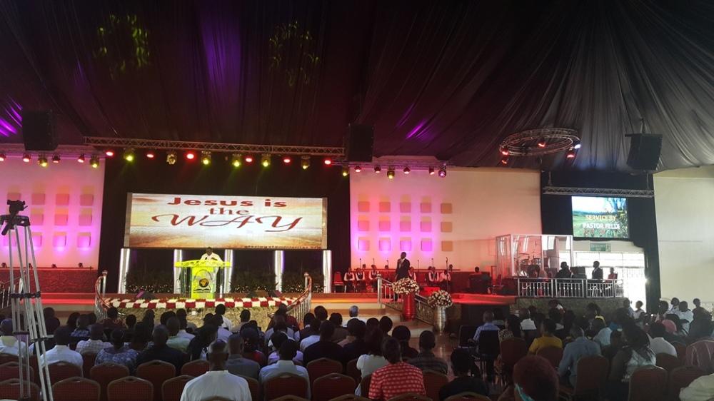 Kivumbi Eanest Benjamin wih Prophet Felix Omondi at Ps Imleda Numutebi Liberty Worship Centre (58)