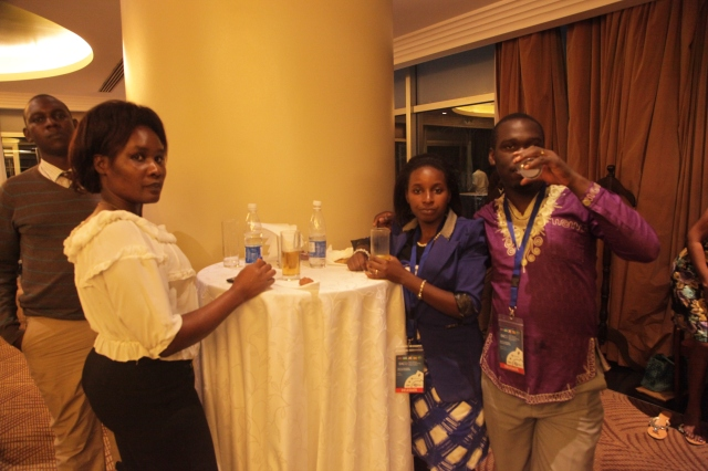Kivumbi Earnest Benjamin & Princess Scovia at EACO Congress 2015 Sheraton Hotel Kampala (1)