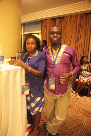 Kivumbi Earnest Benjamin & Princess Scovia at EACO Congress 2015 Sheraton Hotel Kampala (4)