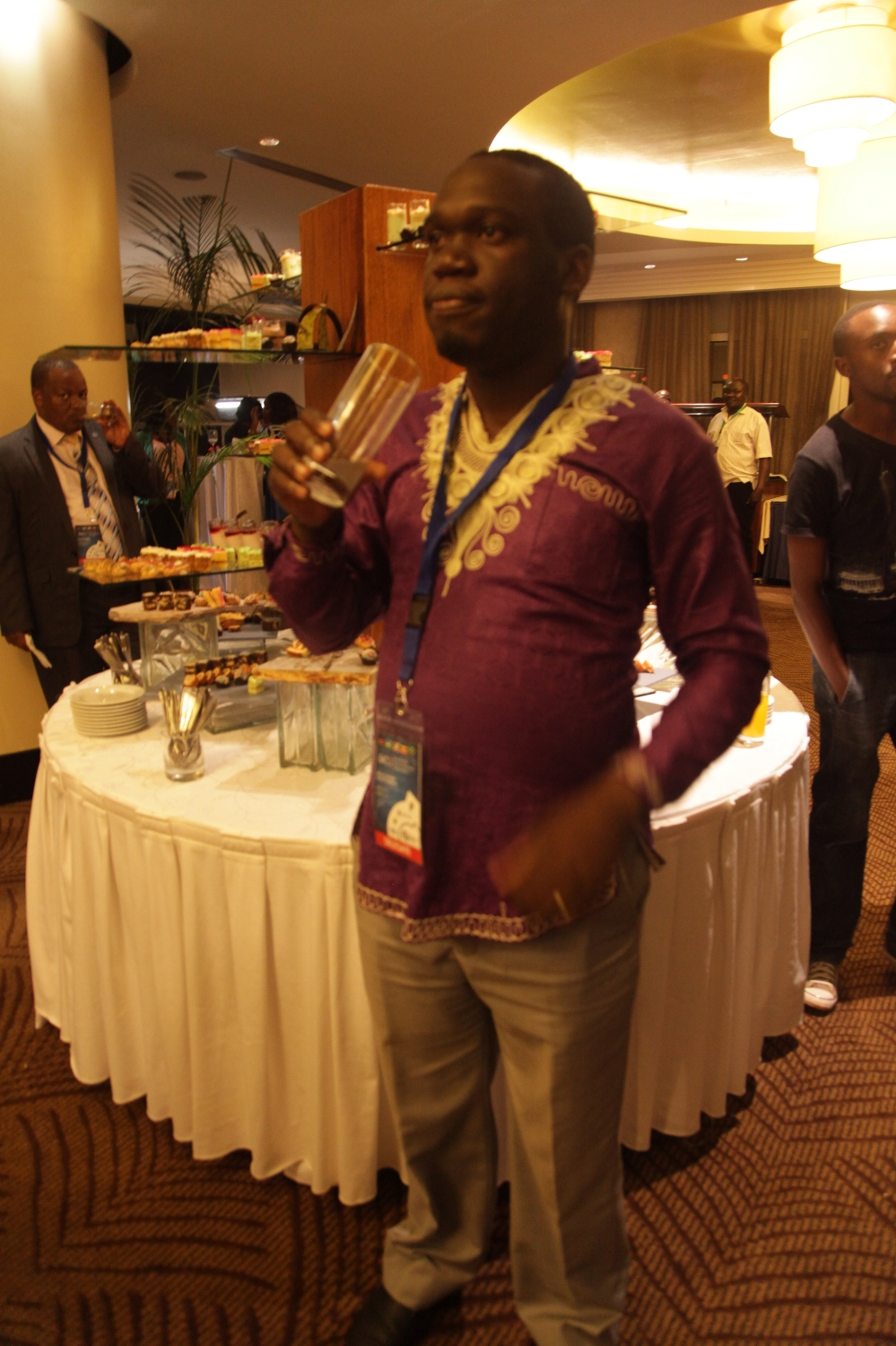 Kivumbi Earnest Benjamin & Princess Scovia at EACO Congress 2015 Sheraton Hotel Kampala (7)