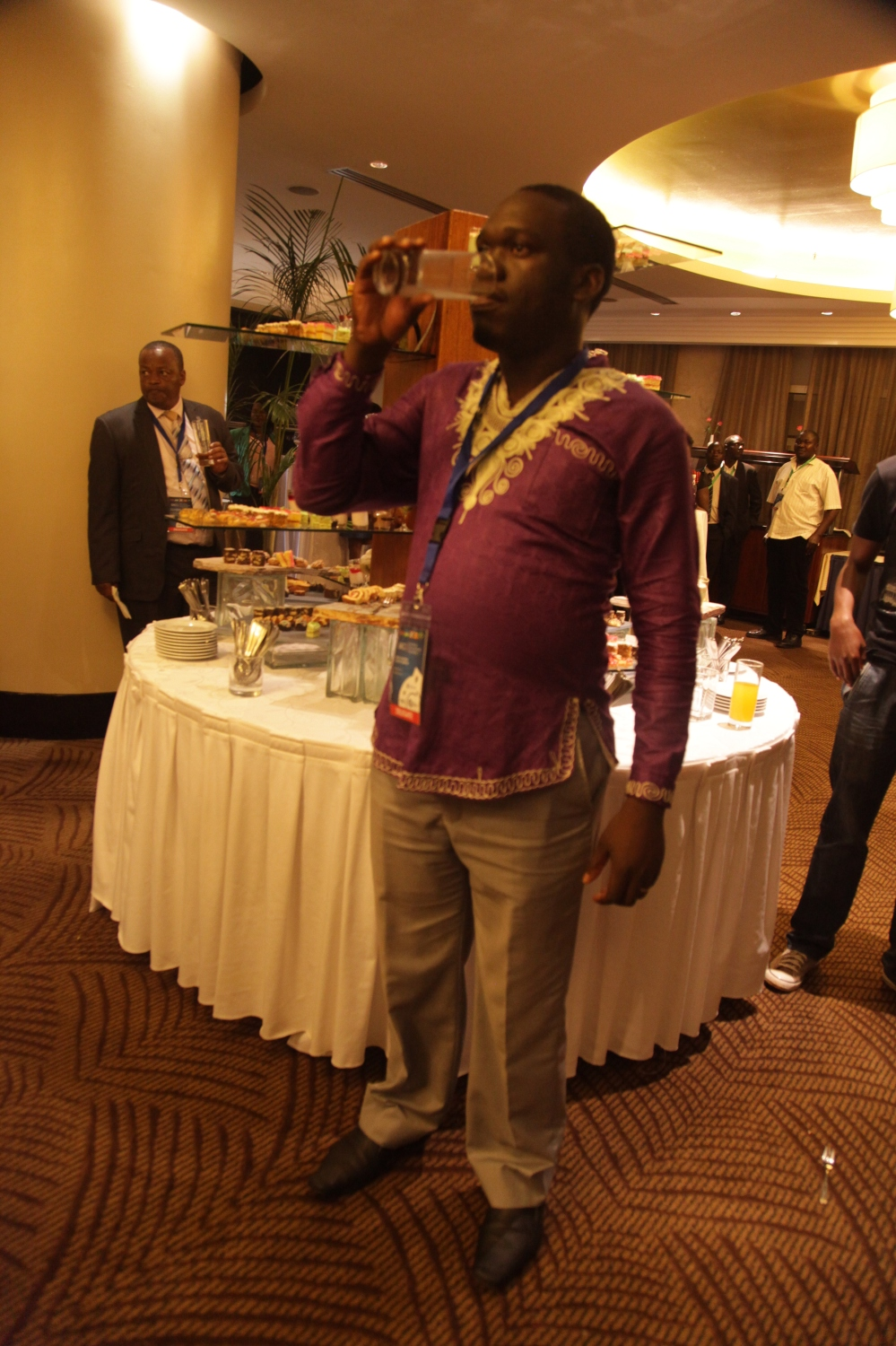Kivumbi Earnest Benjamin & Princess Scovia at EACO Congress 2015 Sheraton Hotel Kampala (8)