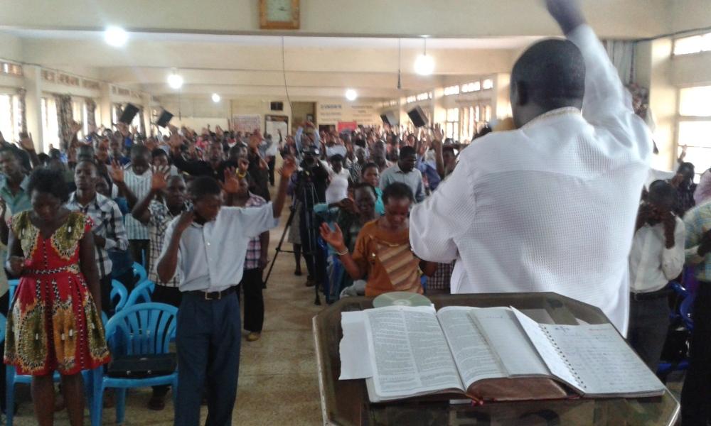 Prophet Felix Omondi at City Lunch Hour Fellowship of Bishop David Kiganda with Kivumbi Earnest Benjamin (10)