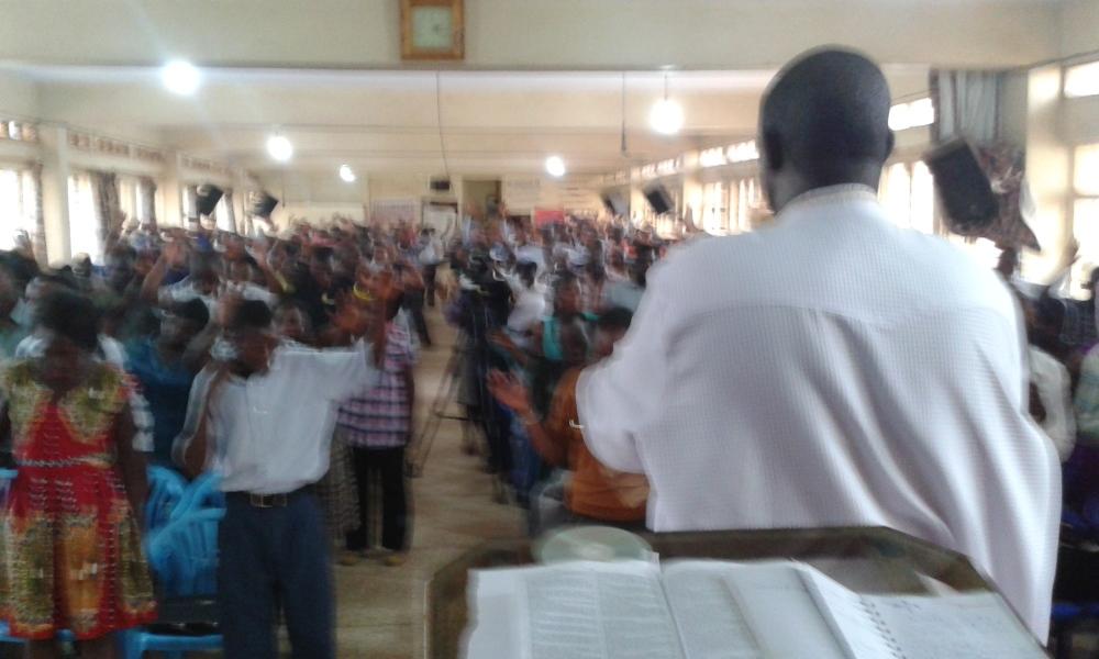 Prophet Felix Omondi at City Lunch Hour Fellowship of Bishop David Kiganda with Kivumbi Earnest Benjamin (11)