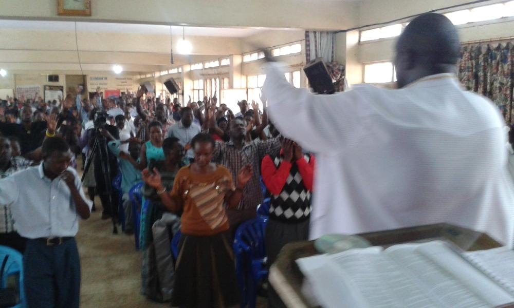 Prophet Felix Omondi at City Lunch Hour Fellowship of Bishop David Kiganda with Kivumbi Earnest Benjamin (12)