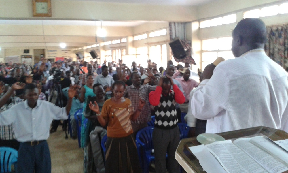Prophet Felix Omondi at City Lunch Hour Fellowship of Bishop David Kiganda with Kivumbi Earnest Benjamin (13)