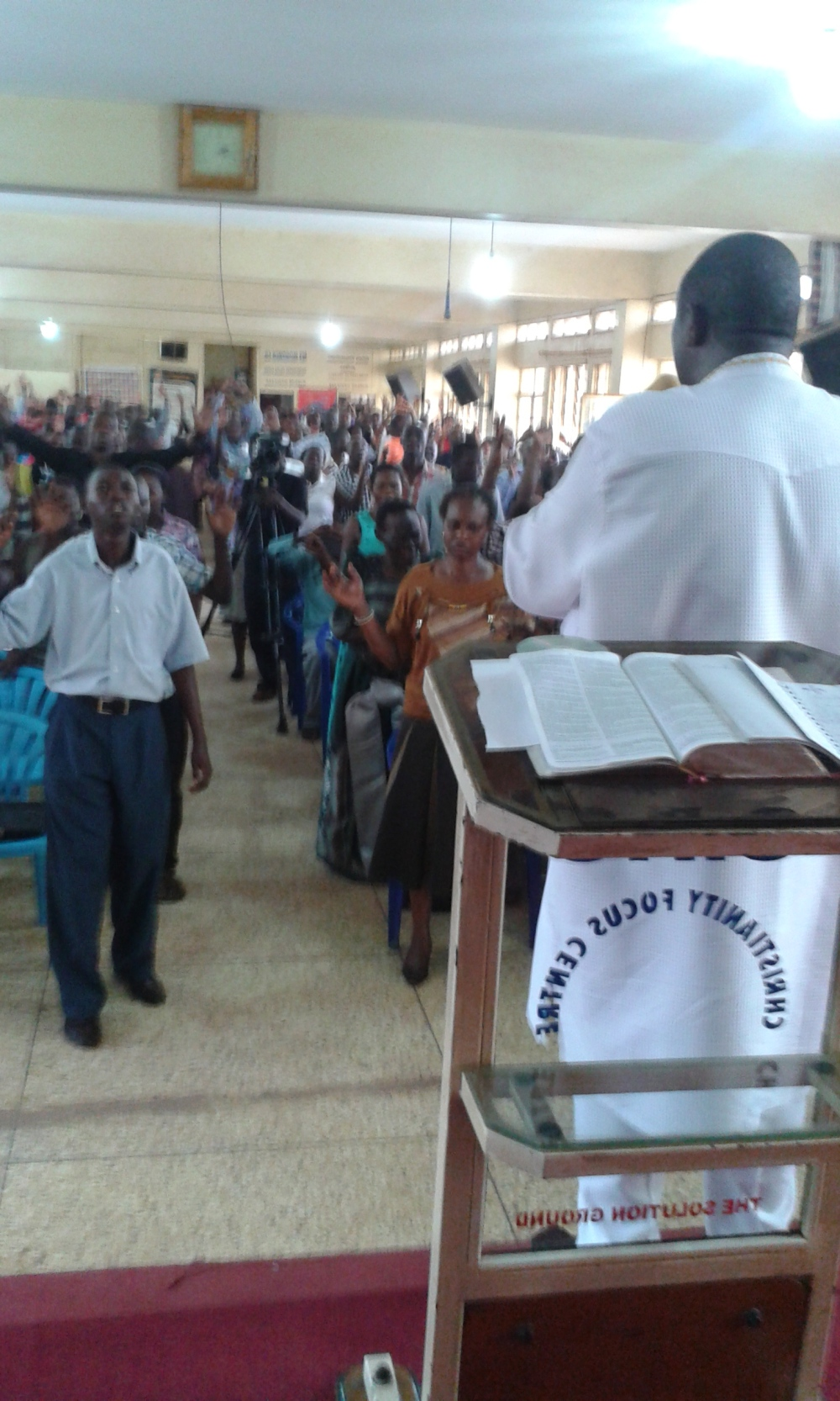 Prophet Felix Omondi at City Lunch Hour Fellowship of Bishop David Kiganda with Kivumbi Earnest Benjamin (31)