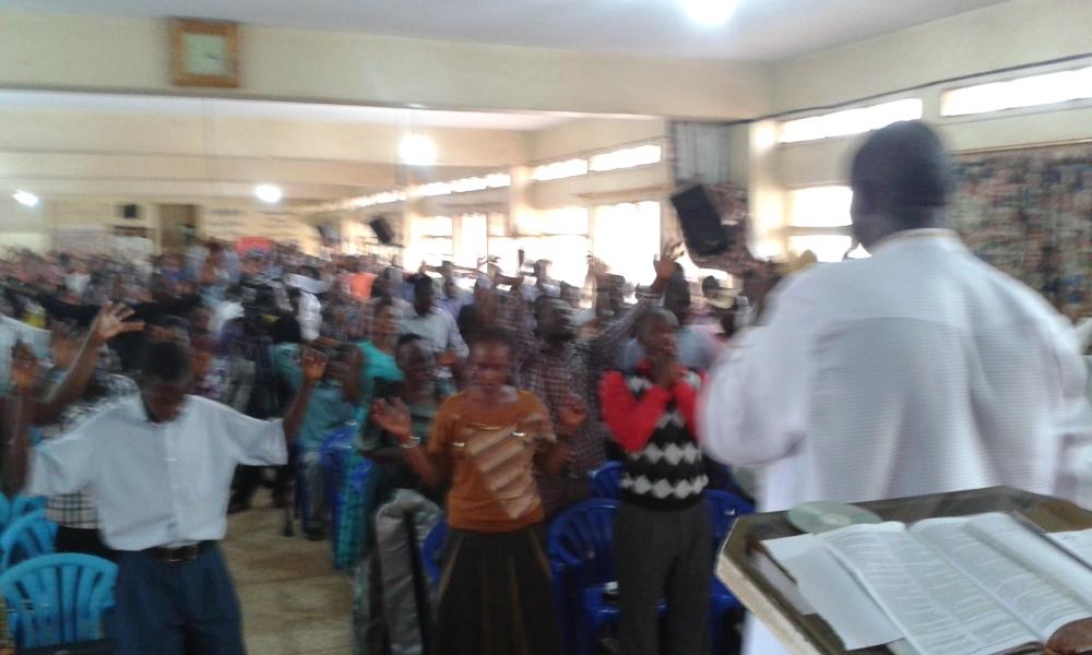 Prophet Felix Omondi at City Lunch Hour Fellowship of Bishop David Kiganda with Kivumbi Earnest Benjamin (32)