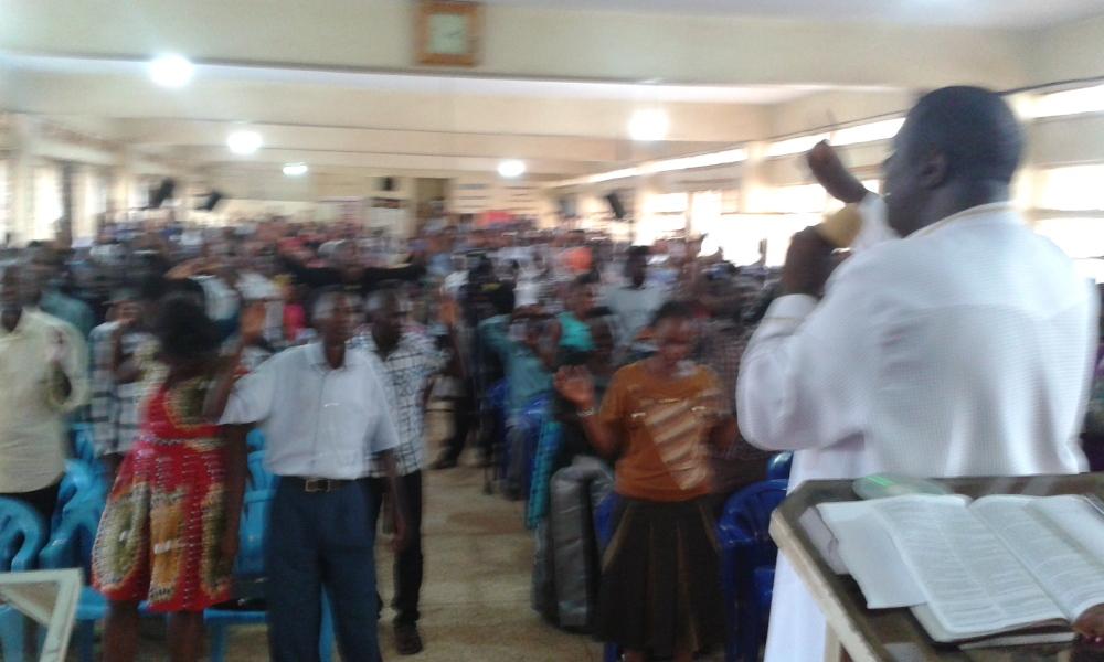 Prophet Felix Omondi at City Lunch Hour Fellowship of Bishop David Kiganda with Kivumbi Earnest Benjamin (33)