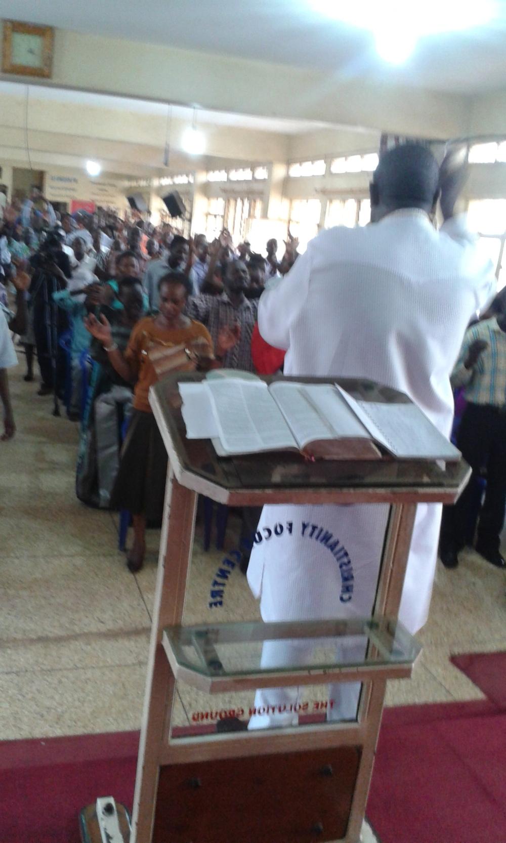 Prophet Felix Omondi at City Lunch Hour Fellowship of Bishop David Kiganda with Kivumbi Earnest Benjamin (36)