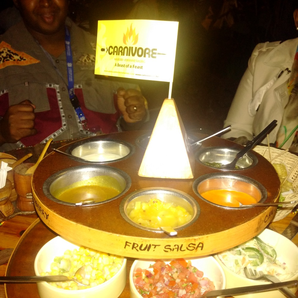 Dinner at Carnivore for Kivumbi and South Africa Delegation