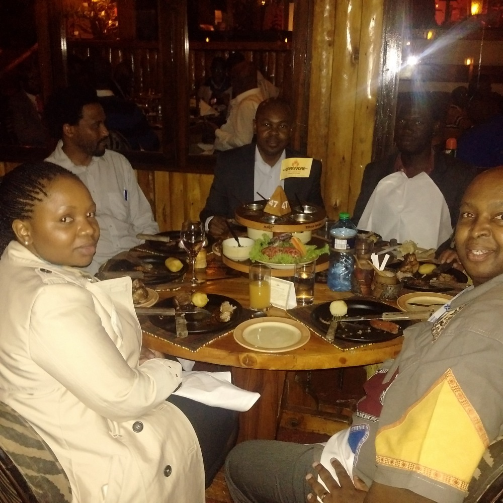 Kivumbi with South Africa Government officials at Ccanivore in Nairobi City Kenya