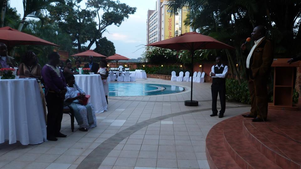 Bishop David Kiganda, Hon Kivumbi Earnest Benjamin, Ps Bweyinda mother Noelina Nakafero Sifa at Serena for Silver Jubilee Celebrations