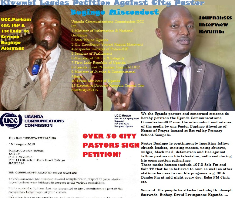 Kivumbi Leads Petition Against Pastor Bugingo Aloysius