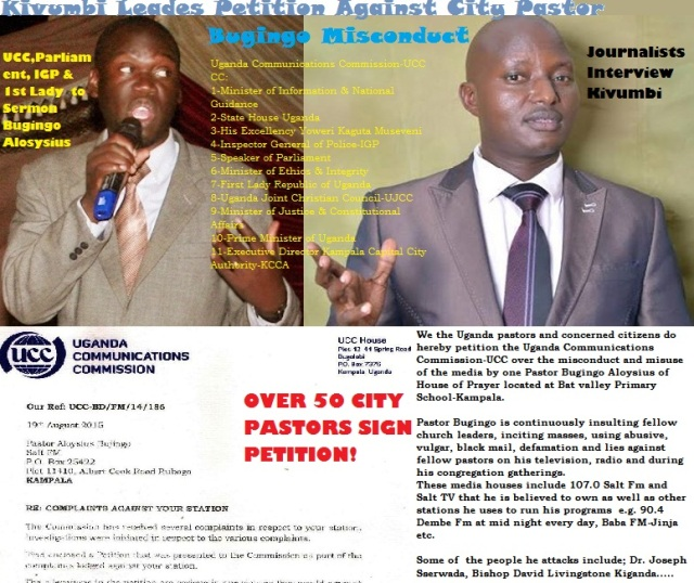Kivumbi Leads Petition Against Pastor Bugingo Aloysius