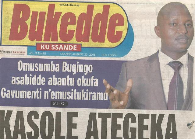 Kivumbi Leads Petition Against Pastor Bugingo in Bukedde News Paper-1