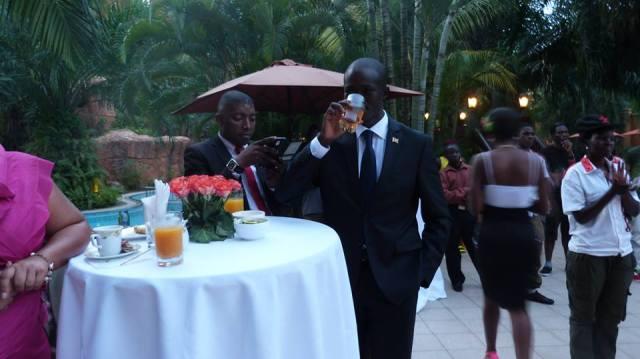 Youth MP Hon David Kabanda & NRM Youth Chairman Sewava David Mukasa at Serena for Ps Bweyinda Silver Jubilee