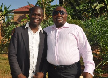 Billionaire Godfrey Kirumila with Hon Kivumbi Earnest Benjamin, Photo by Anastasious Gordon Sekandi upcoming Presidential Press Unit Member@ State House UG