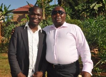 Billionaire Godfrey Kirumila with Hon Kivumbi Earnest Benjamin, Photo by Anastasious Gordon Sekandi upcoming Presidential Press Unit Member@ State House UG