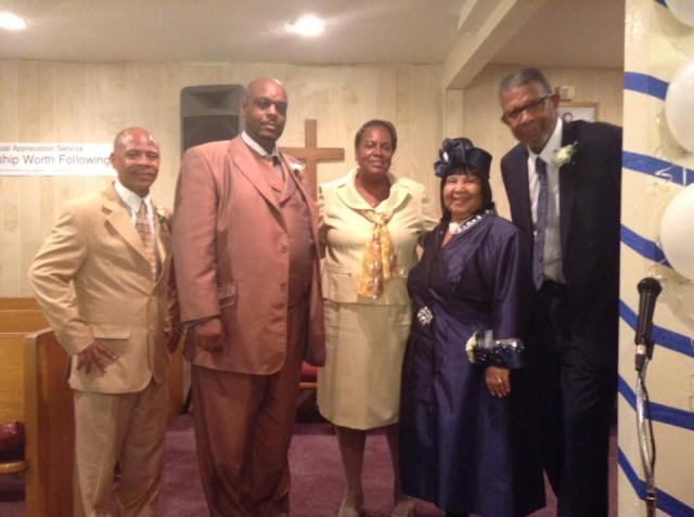 Pastor Joan & Willaim Ross with fellow Americans