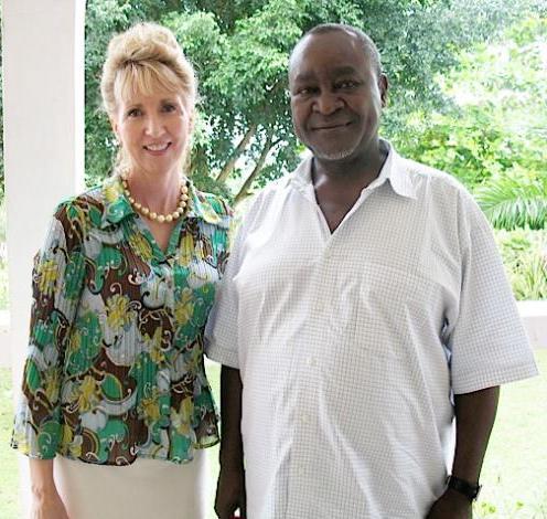 Dr Cinthia Hiett & EX Vice President Prof Gilber B Bukenya