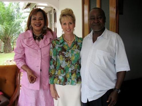 Pastor Irene Manjeri, Dr Cinthia Hiett & EX Vice President Prof Gilber B Bukenya