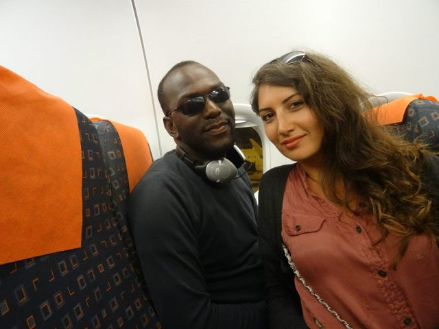 Mr & Mrs. Ntwatwa on a flight