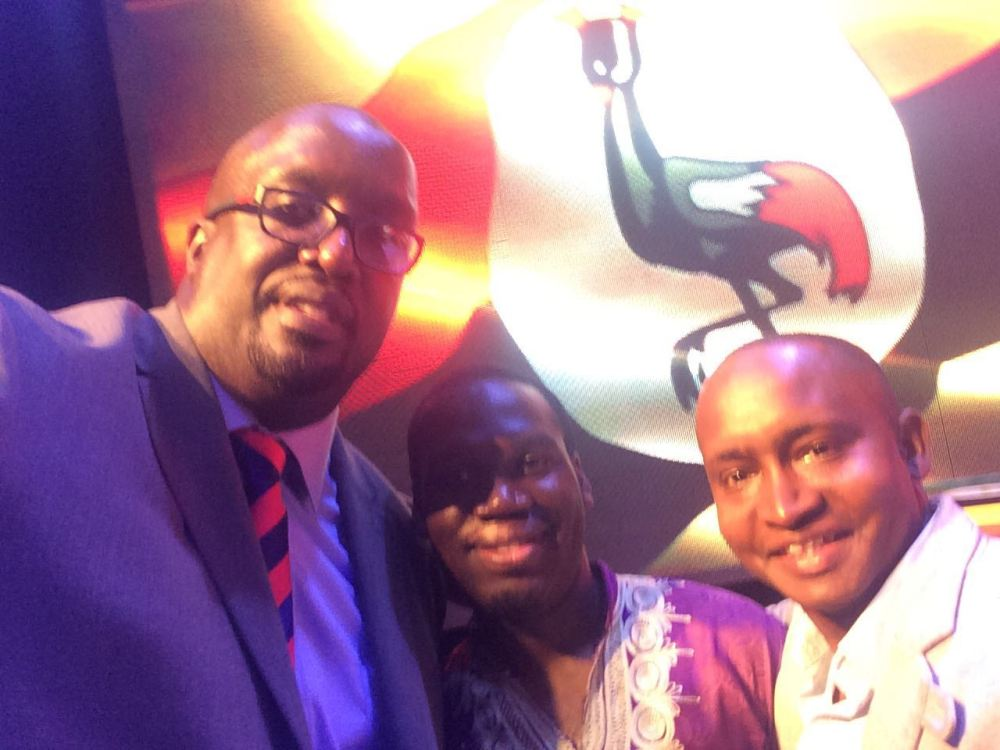 BCC's Allan Kasujja & Kivumbi Earnest Benjamin at the Uganda Presidential Debate 2016