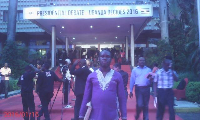 Kivumbi Earnest Benjamin at the Uganda Presidential Debate 2016 (22)