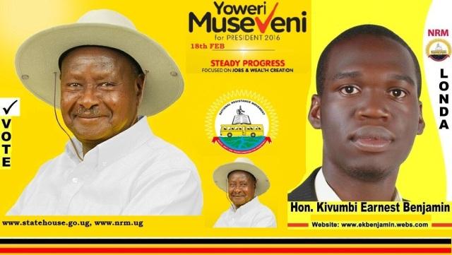 Kivumbi Earnest Benjamin for President Yoweri Kaguta Museveni 2016