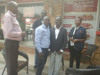Kivumbi Earnest Benjamin with Foreign Election Obserevers (1)