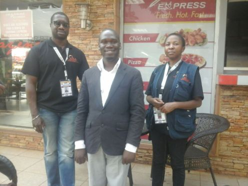 Kivumbi Earnest Benjamin with Foreign Election Obserevers (2)