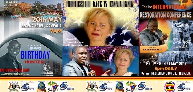 Birth Day for Ps Bweyinda n Prophetess Lugo Emperatrizo back in Uganda