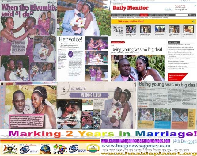 Hon Kivumbi Earnest Benjamin & Princess Scovia Mark 2 years in Marriage