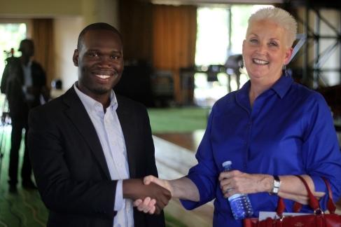 US Ambassador Deborah Malac with Hon Kivumbi Earnest Benjamin (3)