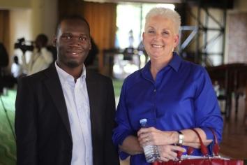 US Ambassador Deborah R Malac with Kivumbi Earnest Benjamin