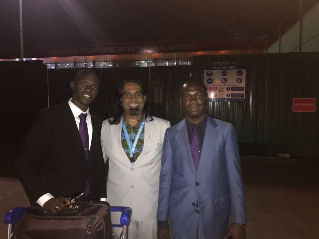 Kivumbi Earnest Bnejamin & Don Vicent Bwana recieve DR. APOSTLE PAUL KARL VICTOR SR (7)