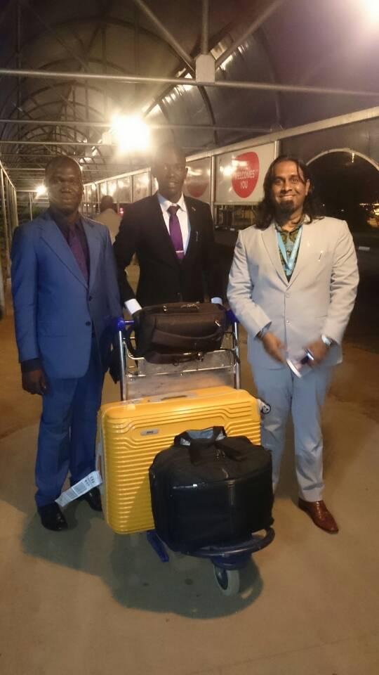 Kivumbi Earnest Bnejamin & Don Vicent Bwana recieve DR. APOSTLE PAUL KARL VICTOR SR (9)