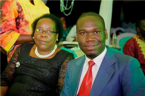 President Kivumbi Earnest Benjamin with AIG Elizabeth Muwanga1