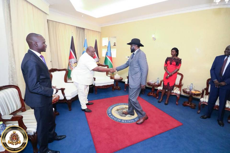 HTP VP-Africa Frnaklin Mondo Mugisha Meets with South Sudanese President Salvar Kiir (2 (2)