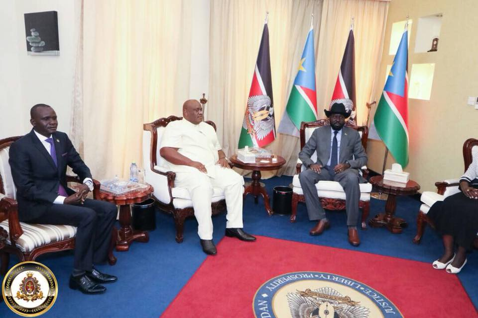 HTP VP-Africa Frnaklin Mondo Mugisha Meets with South Sudanese President Salvar Kiir (2 (3)